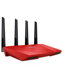 router Asus RT-AC87U inalámbrico AC2400 Dual Band ROJO