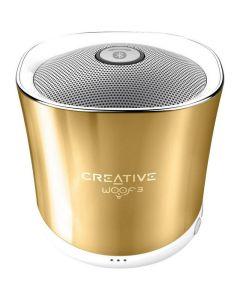 Altavoz bluetooth manos libres Creative Woof 3 Oro Reproduce MP3 por SD