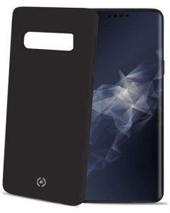 Funda Galaxy S10 Plus negra anti deslizante soft touch Celly Feeling891BK