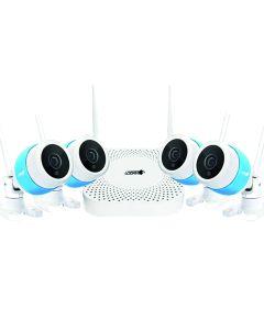 Sistema Seguridad Inalambrico HD720 4 camaras Logan 4Ch LW4AN4W1B