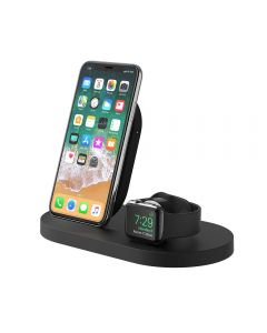 Base carga iPhone X/XR/8 + Apple Watch 2/3/4 inalámbrica BOOST UP + USB-A Embalaje Abierto