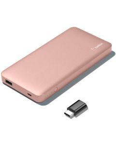 Bateria Externa Power Bank Belkin 5000mAh USB-C Micro-USB Rosa Caja Abierta