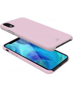 Funda iPhone XR Rosa anti deslizante soft touch Celly Feeling 998PK