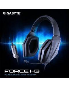 Auriculares Gigabyte Force H3 Gaming altavoces 50mm, con micrófono retráctil