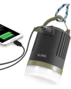 lampara acampada SBS 4W PowerBank modo SOS con bateria