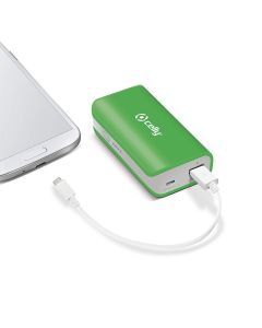 bateria externa Celly Power Bank USB 4000 mAh Verde