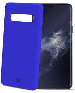 Funda Galaxy S10 Plus Azul anti deslizante soft touch Celly Feeling 891BL