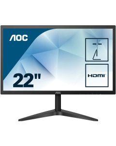 monitor AOC 22B1HS 21.5 pulg FullHD VGA HDMI Embalaje Abierto