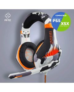 auriculares FR-TEC PHOBOS WINTER WARRIOR Gaming PS XBOX PC Sonido HD Embalaje Neutro