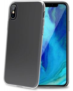 funda iPhone XS MAX Flexible Transparente Celly Gelskin 999