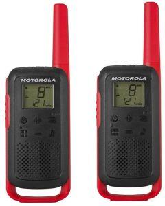 Walkie Talkies Motorola Talkabout T62 PMR 16 Canales 121 Códigos Alcance 8 km rojo