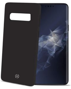 Funda Galaxy S10 Lite negra anti deslizante soft touch Celly Feeling892BK