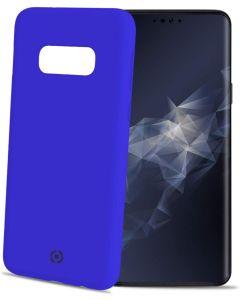 Funda Galaxy S10 Lite azul anti deslizante soft touch Celly Feeling892BL