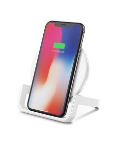 Base Carga Inalambrica Qi VERTICAL Smartphone Universal Boost Up 10W Blanca