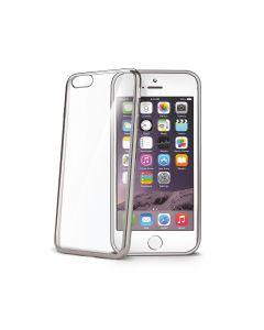 funda  Apple Iphone 7 8 y SE 2020 protector chapado plata Celly LASER800SV 4.7p