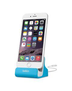Base Carga Apple iPhone 8 X S C Plus, y iPad, Dock de sincronizacion aluminio azul
