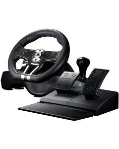 Volante Hurricane FlashFire pedales y cambio con vibracion PS5 PS4 PS3 PC