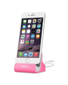 Base Carga Apple iPhone desde 5 al X y Plus, iPad Mini, Dock de sincronizacion aluminio rosa