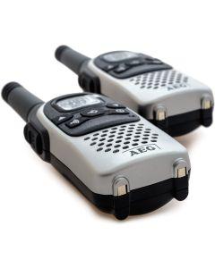 kit Walkie-Talkie 2x AEG Voxtel R100 446MHz con clip