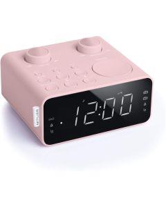 Radio Reloj Despertador Muse M-17 CPK Negro y Rosa Caja Dañada