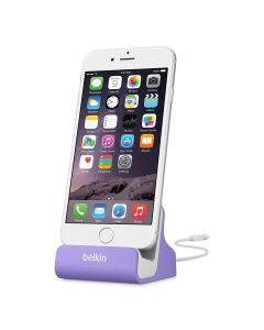 base carga Apple iPhone 8 X y Plus, iPod Touch 5G & iPod Nano 7G, Purpura