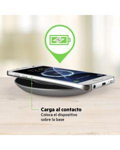 Base Carga Inalambrica Boost Up 15W Qi compatible Apple Samsung LG etc Negra