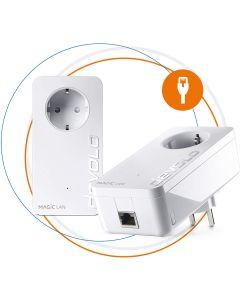 Devolo Magic 2 LAN Starter Kit Powerline Tecnología G.hn, Blanco Embalaje Abierto