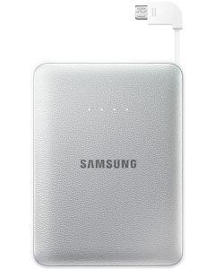 bateria externa 8400 mAh Samsung EB-PG850BSEG Cable Micro USB Retractil Plata