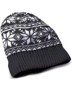 Gorro invierno de punto con Auriculares estereo y micro Celly Negro