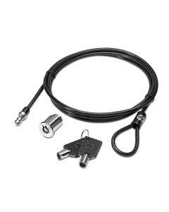 Cable antirrobo portatil HP AU656AA vale para cualquier portatil Negro Metálico