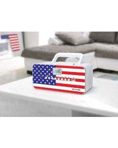 Radio CD MP3 Muse M-28 USA con LCD, puerto USB y 30 presintonias
