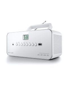 Radio Muse M-28 RDW Portátil Digital Color blanco