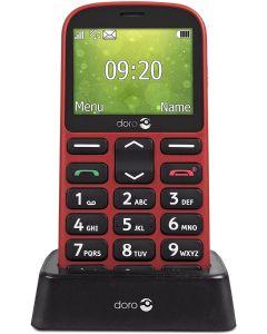 movil Mayores Doro 1361 Bluetooth Boton Alerta Base Carga Rojo Embalaje Abierto