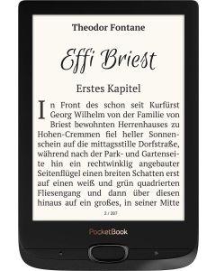 eBook PocketBook Basic Lux 2 de 6 pulg 8GB wifi 17 formatos Libro Obsidian Black Caja Abierta