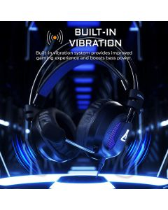 auriculares gaming G-Lab KORP400 7.1 digital, vibracion PC Xbox PS4 Retroiluminados