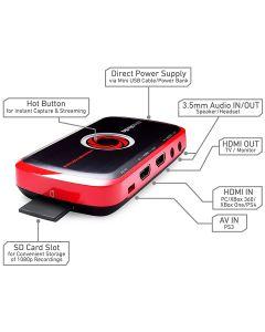 capturadora AverMedia LiveGamer Portable  C875 USB HDMI 1080p MicroSD gaming