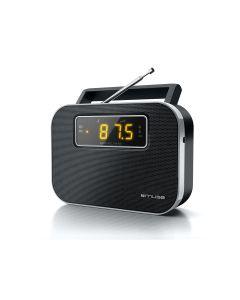 Radio Despertador Alarma Muse M-081R entrada aux DIGITAL