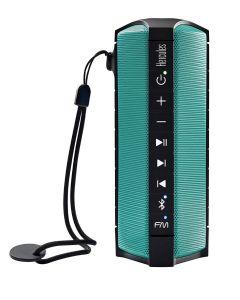 Altavoz Bluetooth Hercules WAE Outdoor Rush Oceanproof Radio FM turquesa y negro