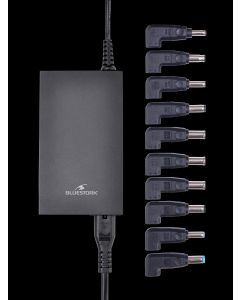 cargador universal 100W automatico slim Bluestork 10 voltajes y puerto USB Embalaje Abierto