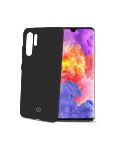 Funda Huawei P30 PRO Negra anti deslizante soft touch Celly Feeling846BK