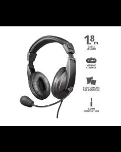 Auriculares Trust Quasar con Micro para PC Nuevos con Embalaje Detariorado