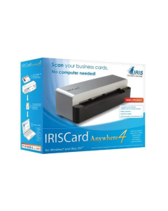 escaner IRIScard ANYWHERE 4 autonomo con memoria, para documentos y tarjetas visita