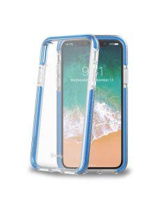 carcasa Iphone X Celly HEXAGON900LB 5.8pulg Rígida Azul transparente
