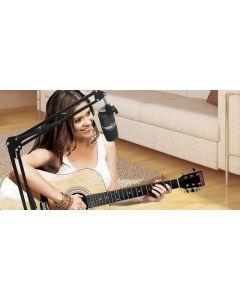 microfono AVERMEDIA GODWIT AM310 60dB +-5 sensibilidad con soporte Embalaje Abierto