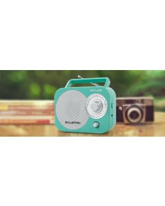 Radio portatil Muse M-055 RB VINTAGE Collection azul claro