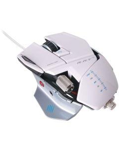 raton Mad Catz Cyborg RAT 5 gaming Pesas 5600 dpi Blanco conector Oro