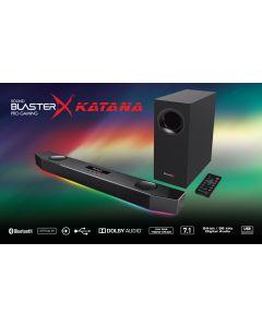 Barra Sonido Katana 7.1 Creative Sound Blaster Gaming Bluetooth Led 24bit Embalaje Abierto