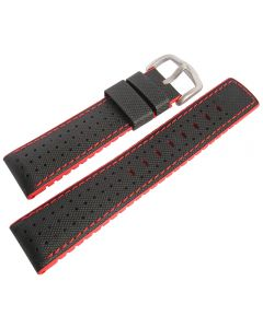 correa SmartWatch Hirsch Robby Strap 22mm Black and red Genuina